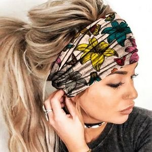 NEW Boho Headband Wide Headwrap Butterfly Floral